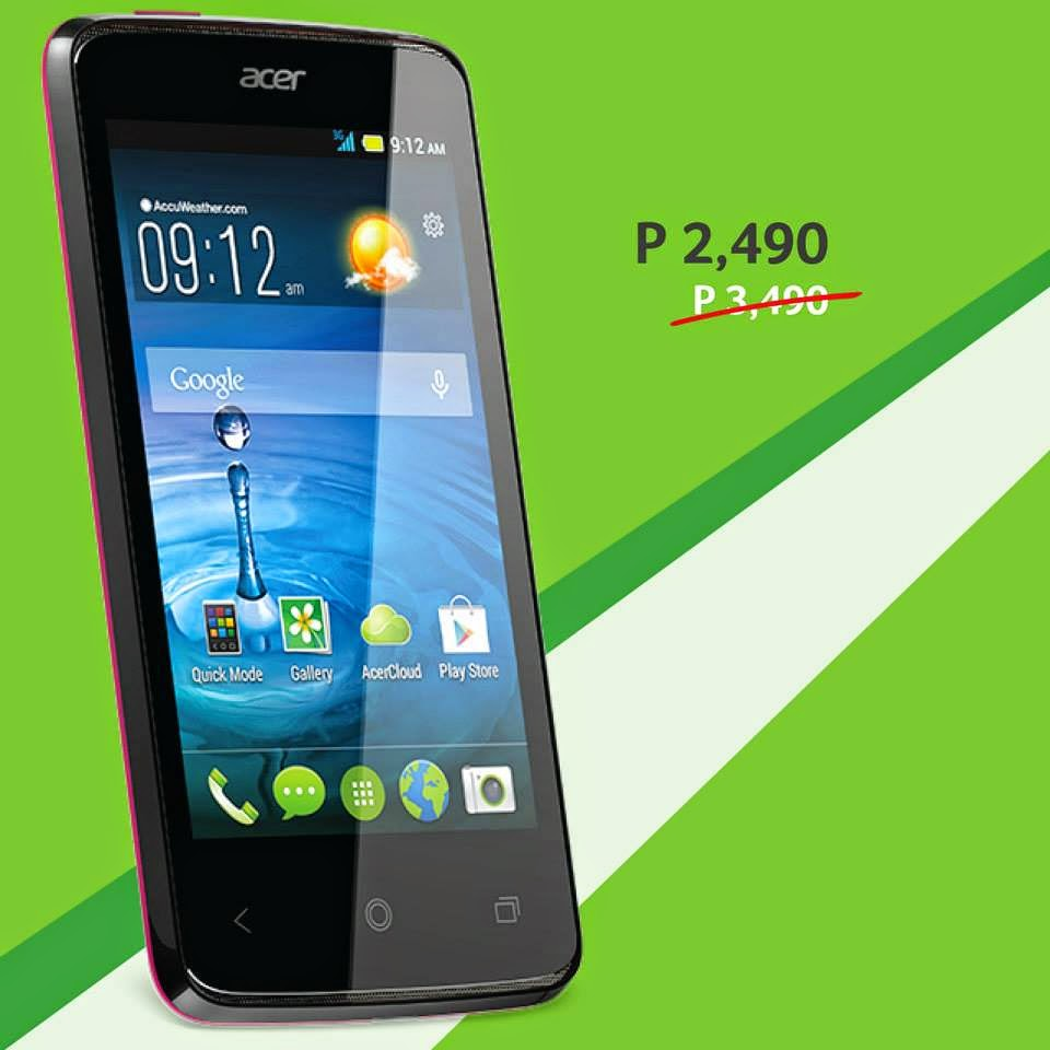 Acer Philippines Android Smartphones Sale for Q1 2015 : Prices Start ...