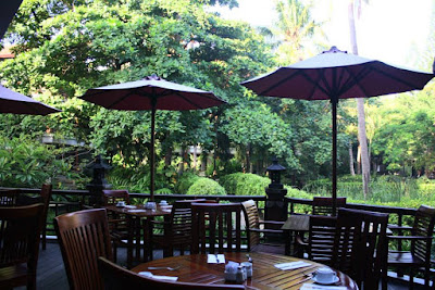 Breakfast Area of Bali Garden Beach Resort Kuta Bali