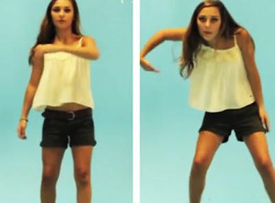 Cewek Bule Dance Robot Keren