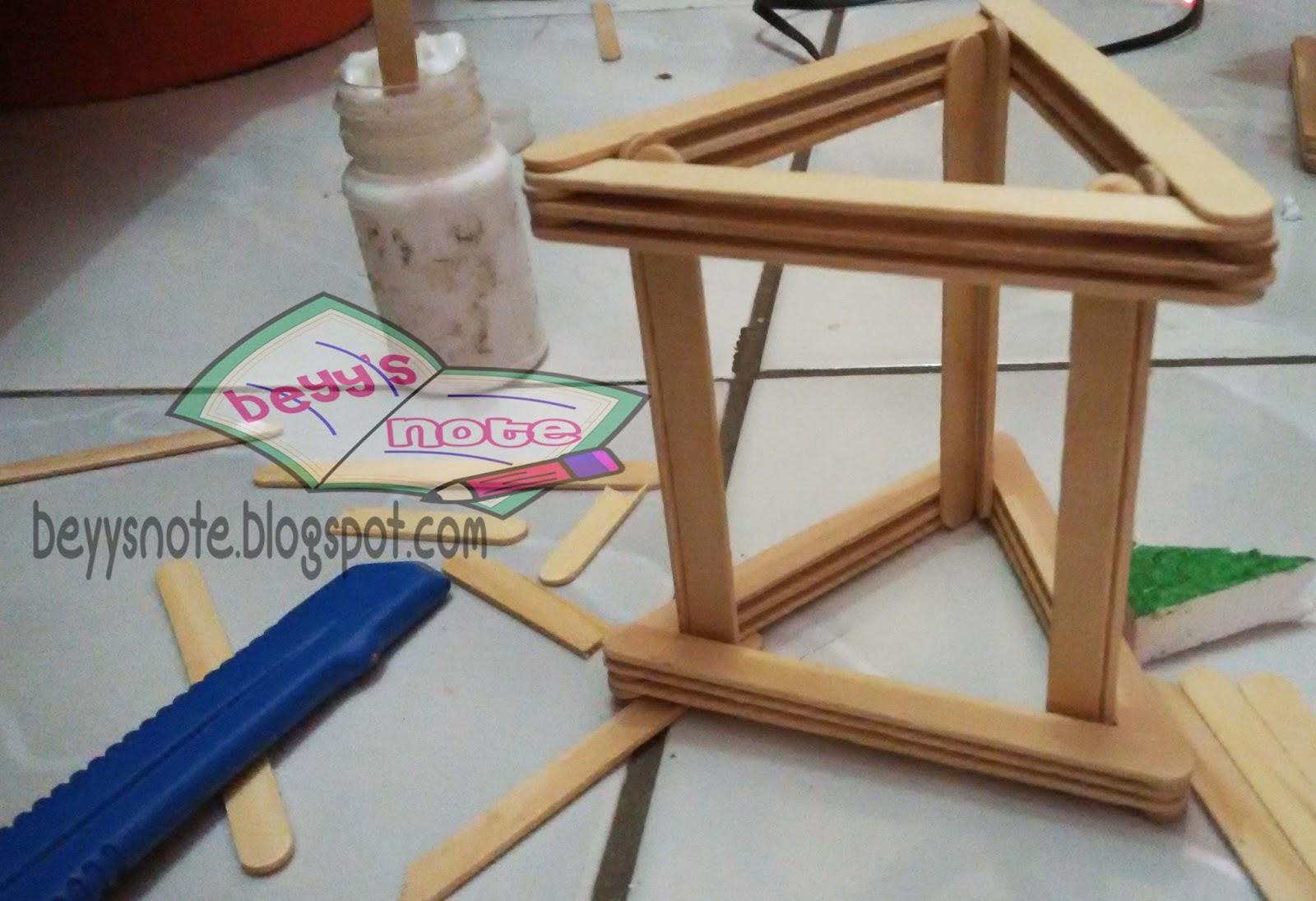 Membuat Vas Bunga Dari Stik Es Krim Beyy S Note