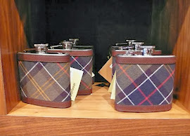 Barbour flasks at Haberdash.