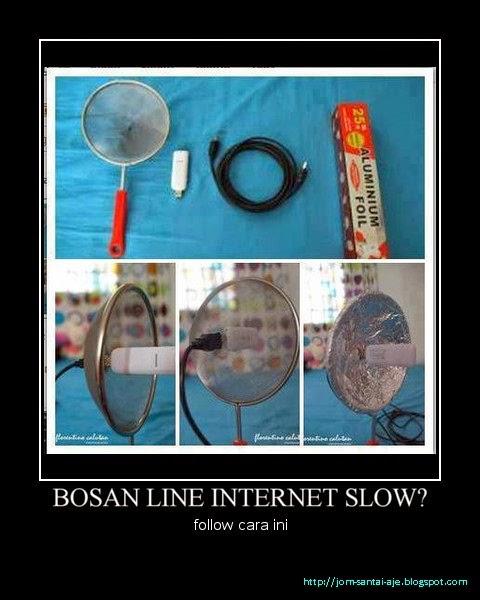 BOSAN LINE INTERNET SLOW