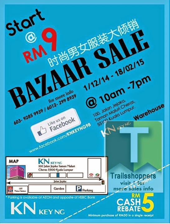 kn key ng apparels bazaar sale clothes taman maluri