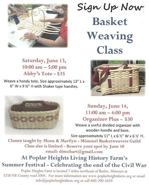 History Of Basket Weaving : Mid america live basket weaving class at poplar heights