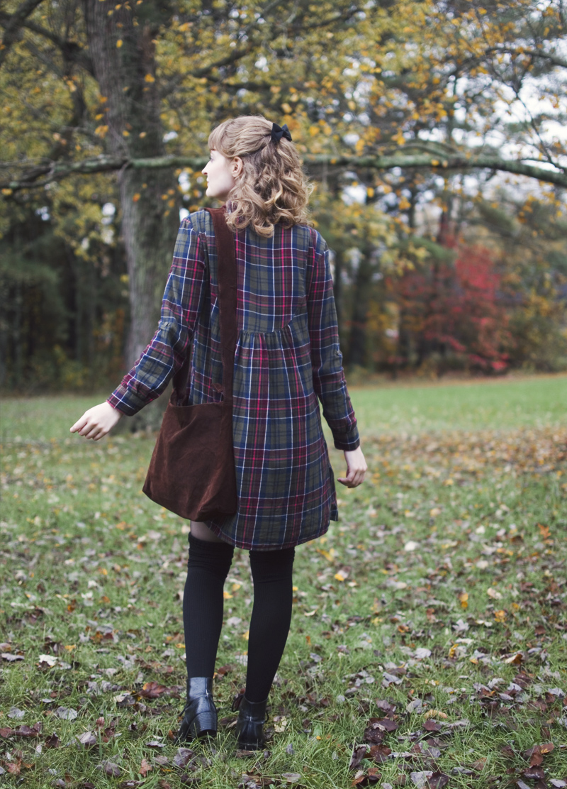 The Flying Clubhouse: Berry Stained | plaid dress