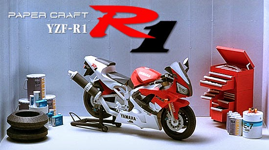 Motorcycle - Yamaha YZF-R1 Papercraft