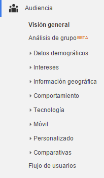Google Analytics - Audiencia