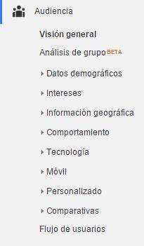 Google Analytics - Audiencia