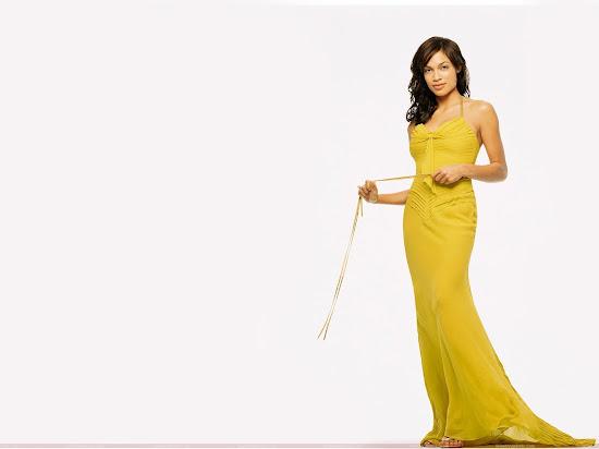 Rosario Dawson wallpaper in yellow