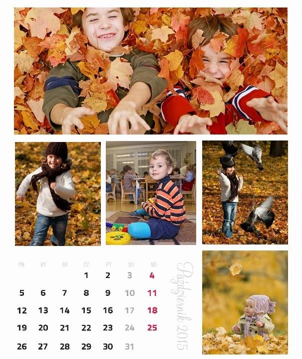 fotokalendarz kolaż ze zdjęć
