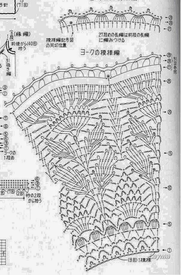Вязание узоры крючком для юбки