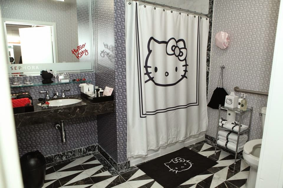 Design Hello Kitty Theme Bathroom Interior Decorations Ideas