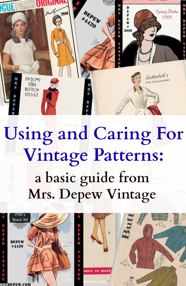 Flashback Summer: Using and Caring For Vintage Patterns - Mrs. Depew Vintage