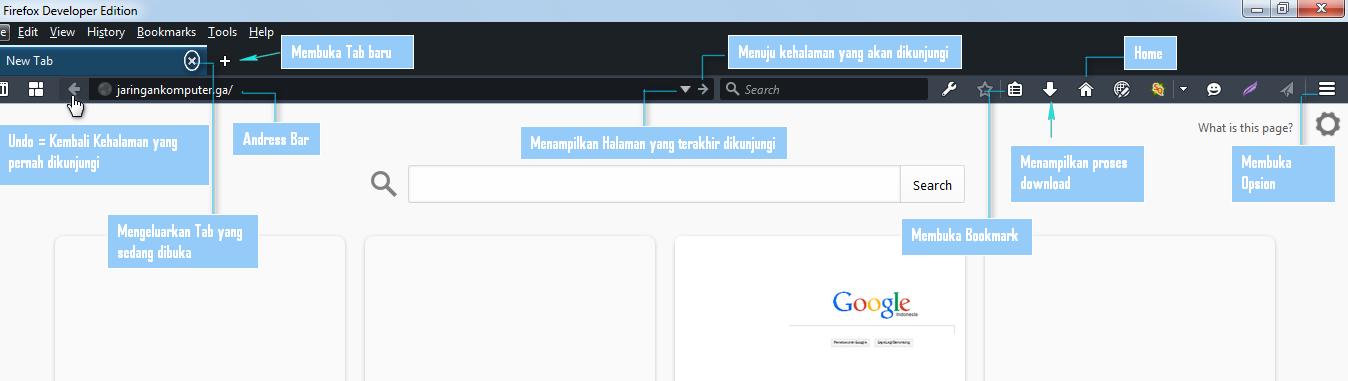fungsi icon toolbar pada mozilla firefox,menu bar pada mozilla dan fungsinya mozilla menu bar get back