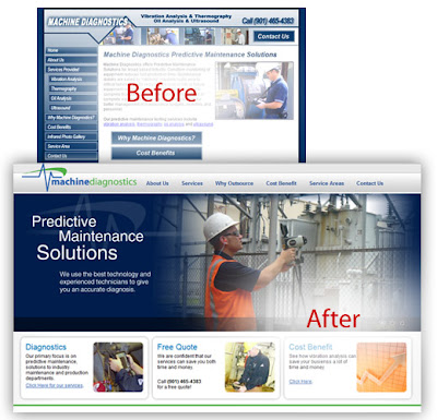 Machine Diagnostics Website Design