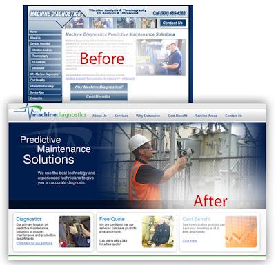 Machine Diagnostics Website Design