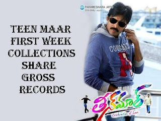 Pawan Kalyan Teen Maar First Week Collections | Share | Gross | Records
