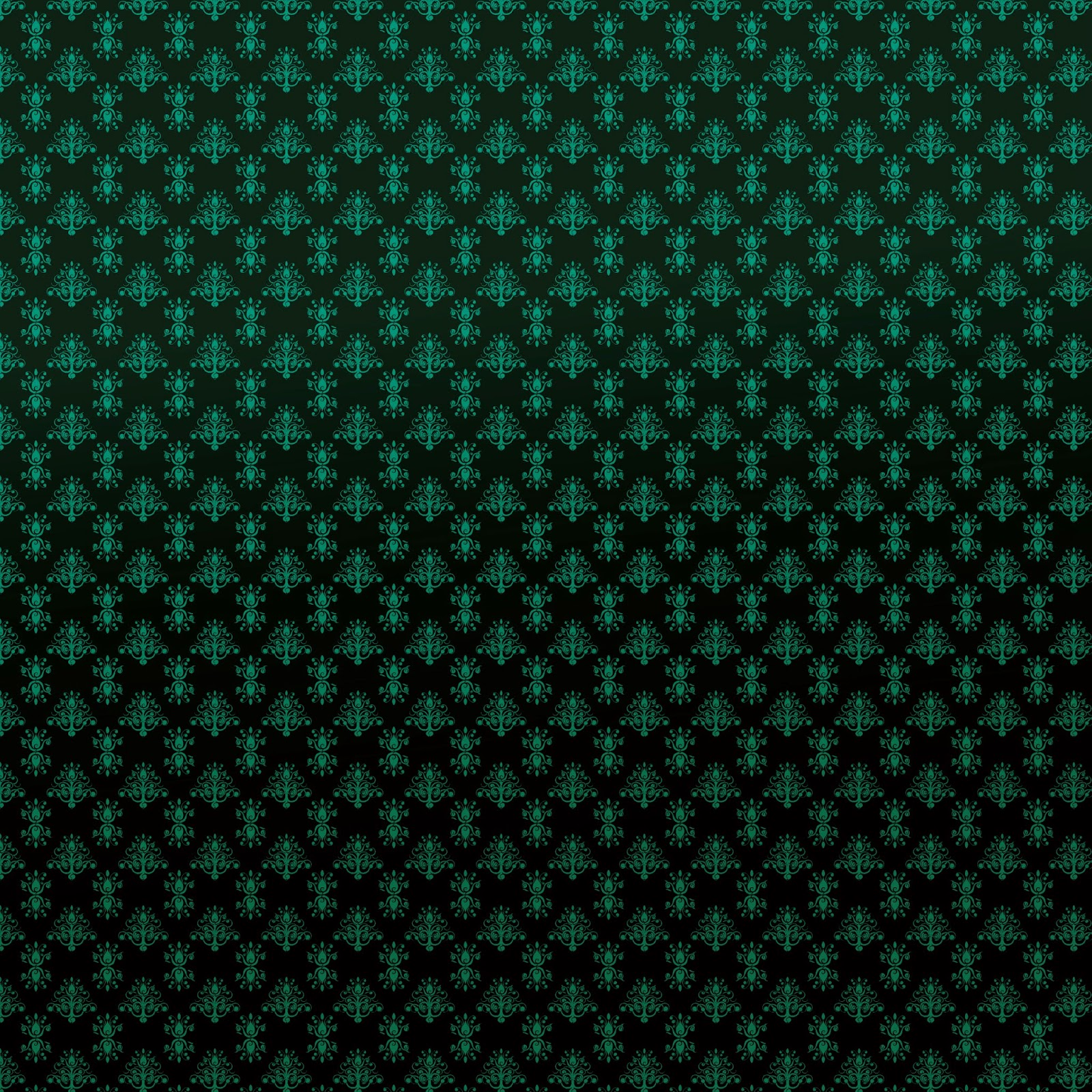 digital scrapbook paper vintage pattern black and green