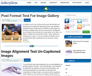 Gallery Glow Free Blogger Template