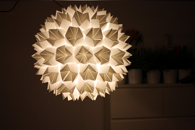 fosfeno candeeiro origami branco