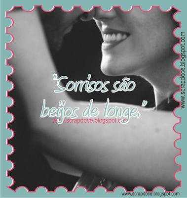 Recadinho de Sorrisos e Beijos para compartilhar no Facebook e Orkut