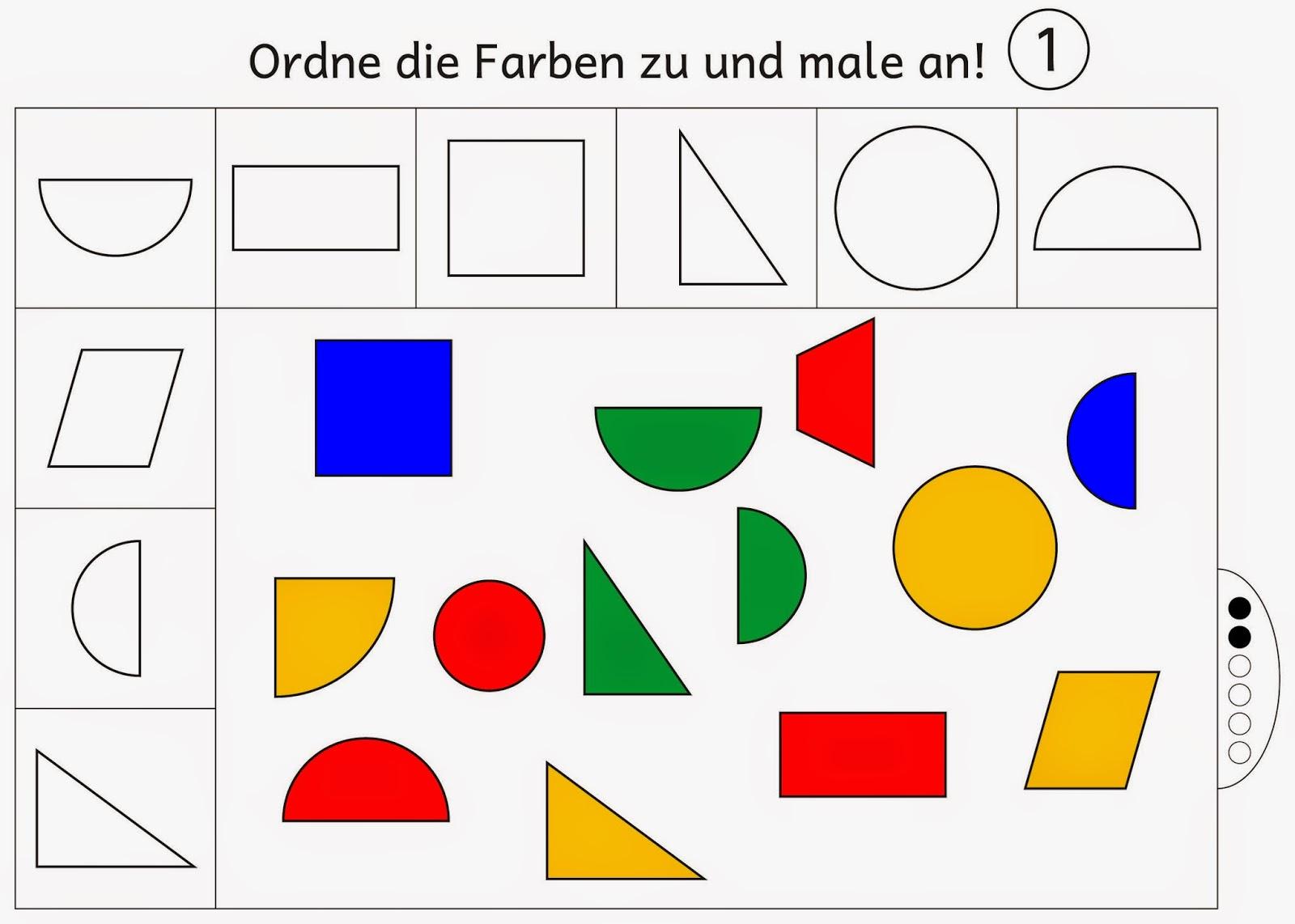 Ausgezeichnet Formen Färben Arbeitsblatt Fotos - Malvorlagen-Ideen ...