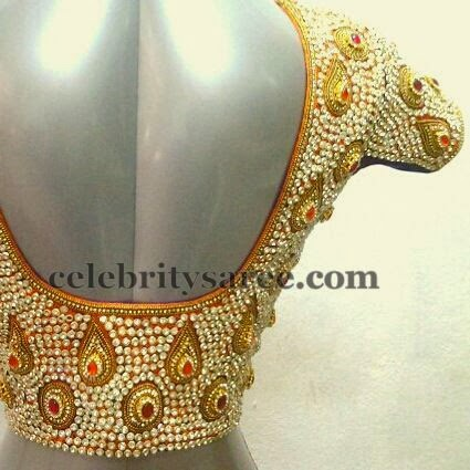 Gold Color Sequins Blouses