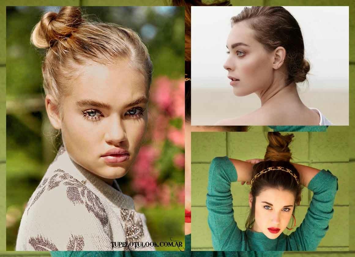 peinados 2015-rodetes