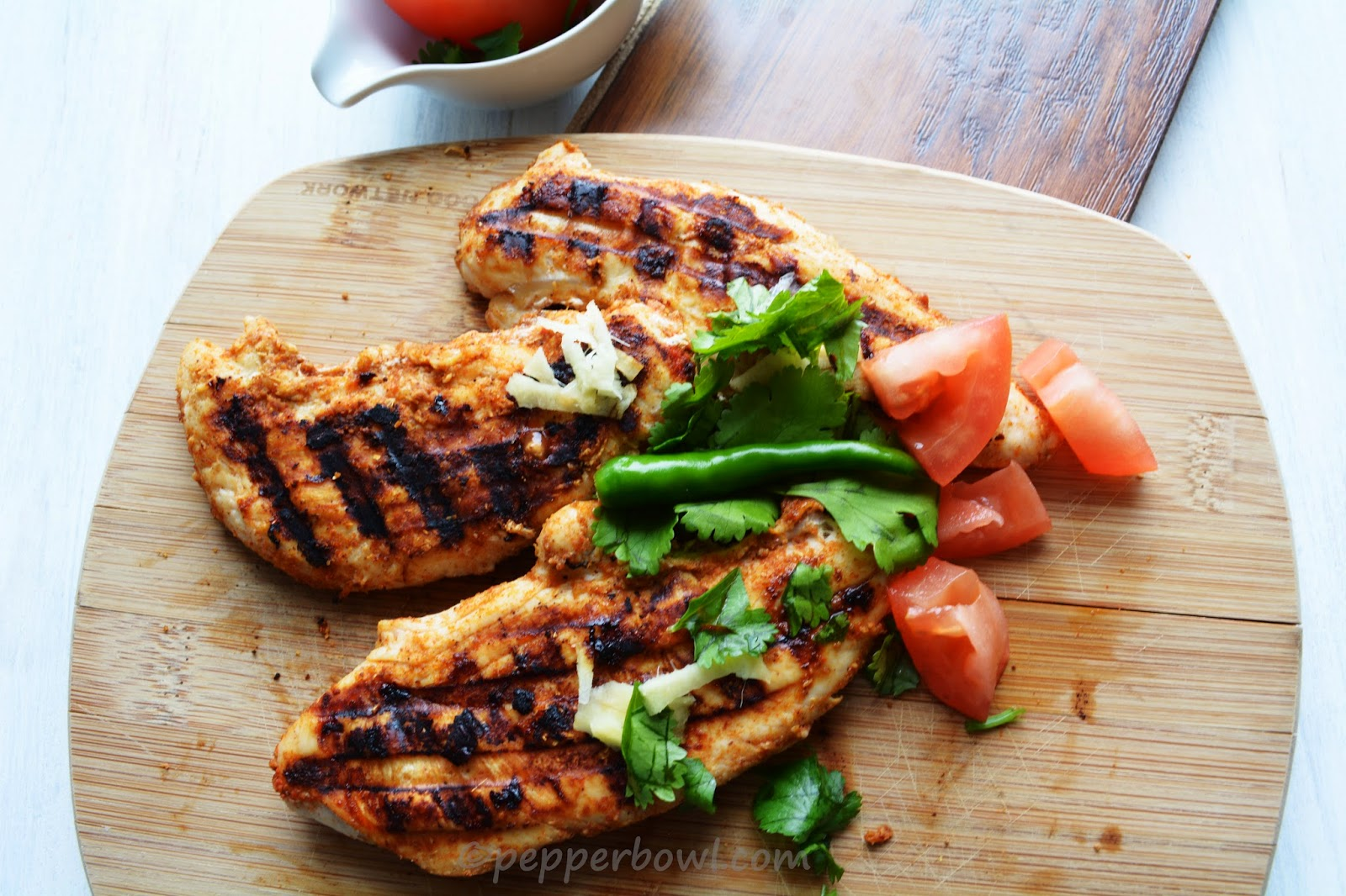 Tandoori Grilled Chicken Breast, a Bachelor's Recipe