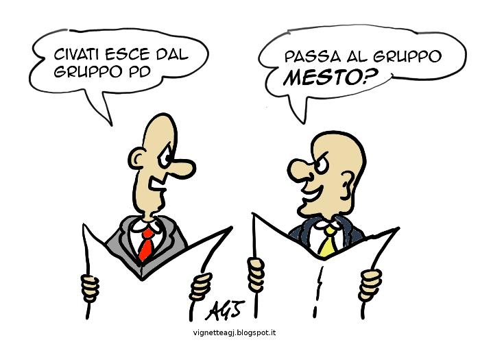 Civati, PD, satira, vignetta