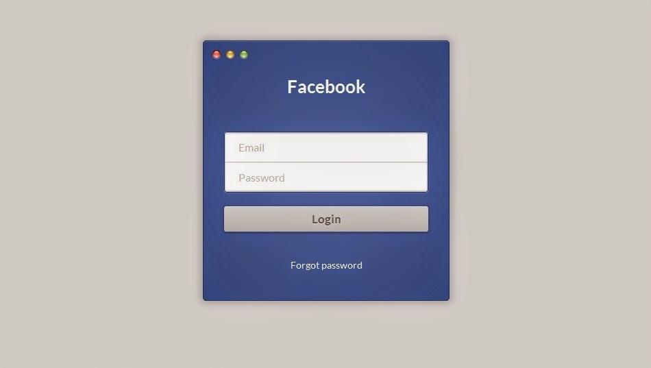 Facebook Login Form