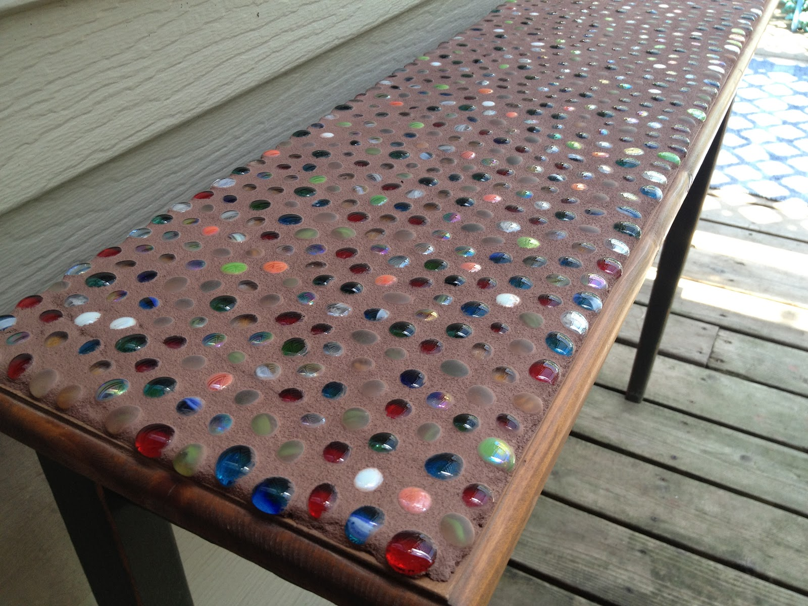 junk mail gems diy marble mosaic table top. Black Bedroom Furniture Sets. Home Design Ideas