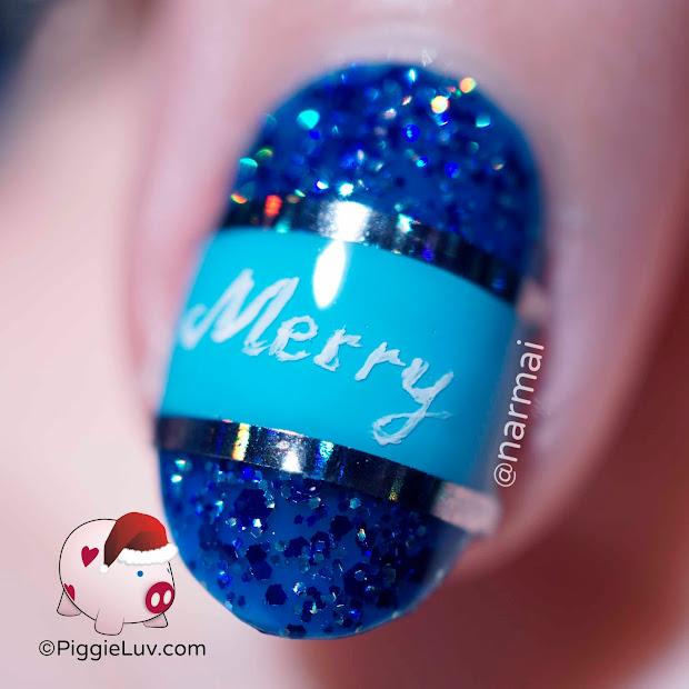piggieluv freehand blue christmas