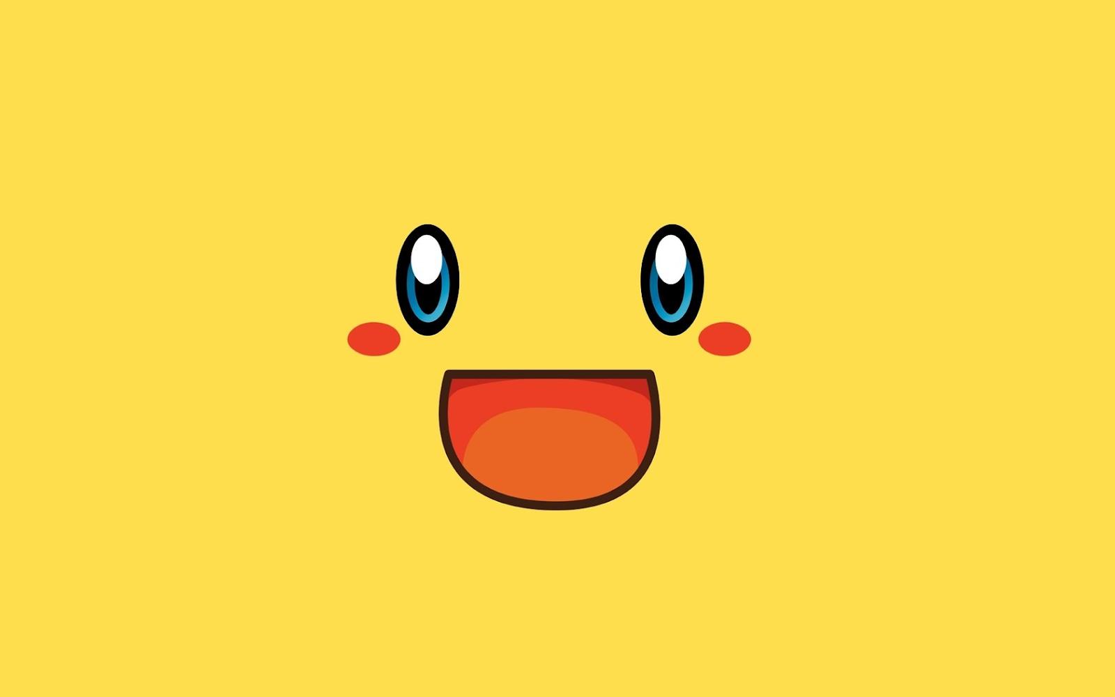 Pikachu Smiling Face Minimalist HD WallpaperPikachu Face Wallpaper