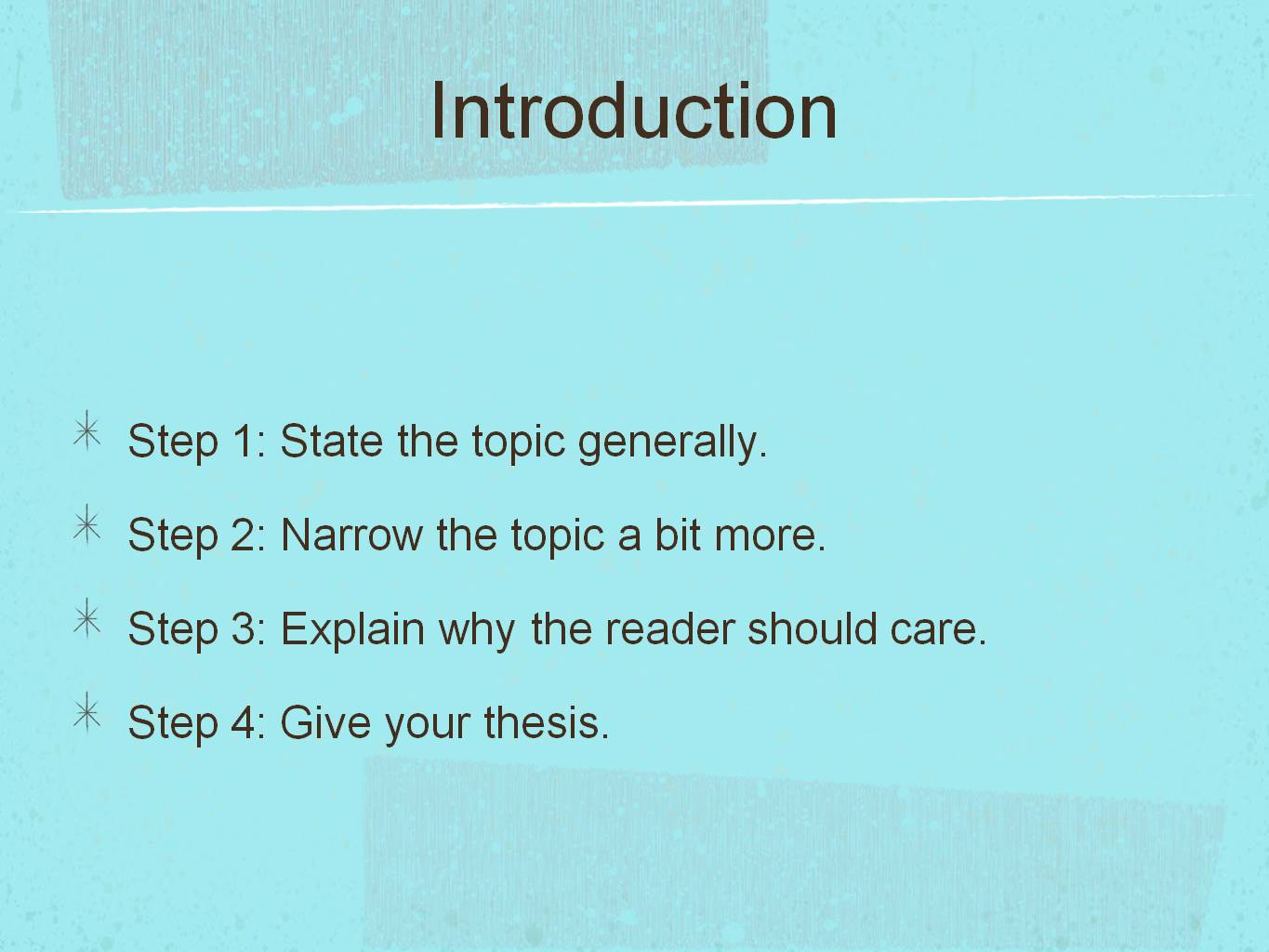 teaching five paragraph essay esl Essay writing for standardized tests: tips for writing a five paragraph essay most, if not all, high school and college standardized tests include a writing portion students are provided a writing prompt and must then write an essay on the topic.