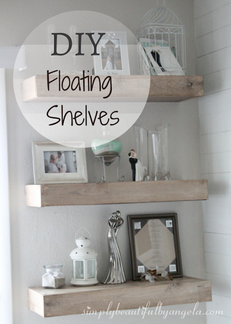 DIY Floating Shelf Entertainment Center