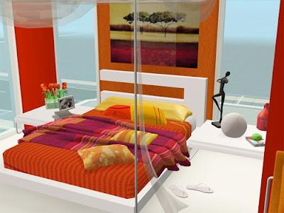 dormitorio naranja moderno