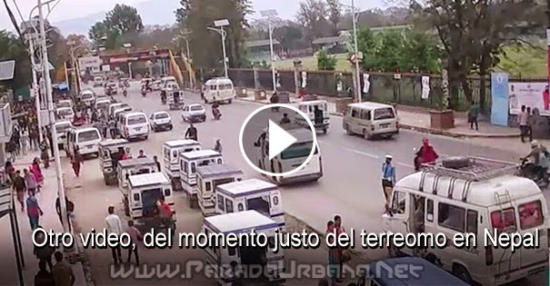 VIDEO IMPACTANTE - Un nuevo video exhibe el horroroso terremoto en Nepal