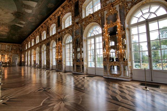 El salón de baile en el Palacio de Catalina