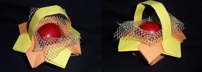 origami, оригами, кошничка, кутия, великден