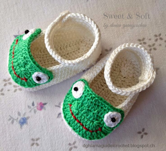 Zapatos de bebé tejidos a mano