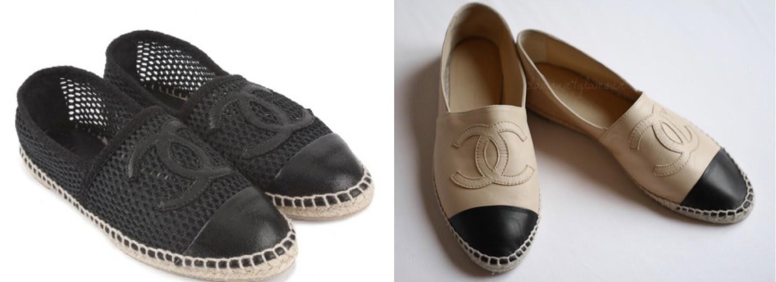 Las esparteñas o spadrilles de doble c, en tela y en infinidad de colores con un precio de 250\u20ac, ya estaban siendo calzadas las semanas pasadas de la moda,
