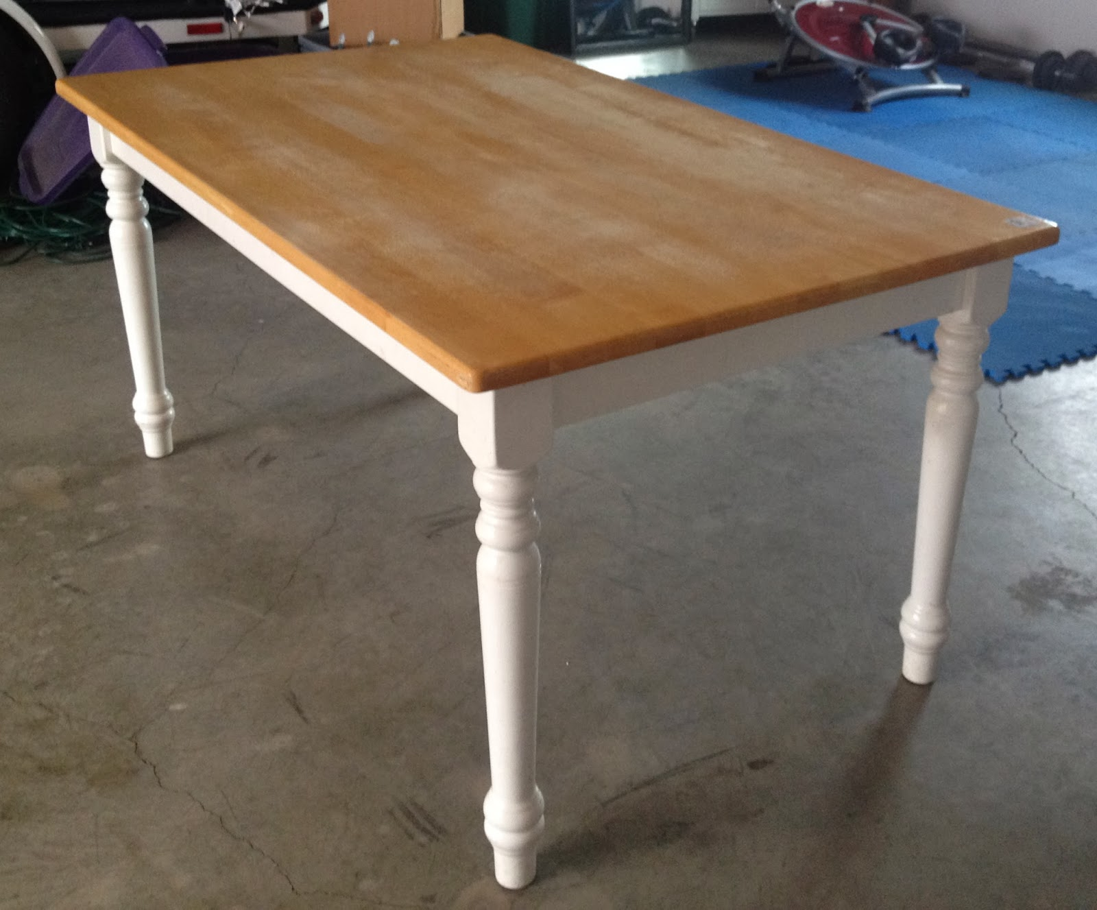 The Daily Debut Annie Sloan Chalk Paint Wax Table Refinish