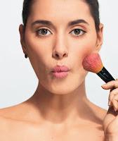 maquillaje pomulos, aplicacion, rubor