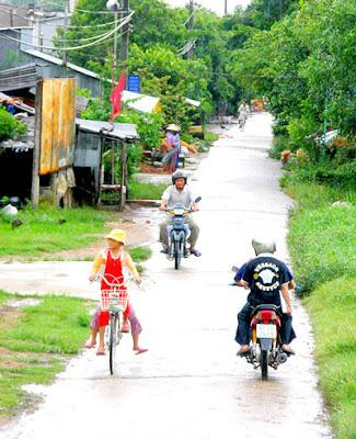 Đường nông thôn ở huyện Thoại Sơn, tỉnh An Giang