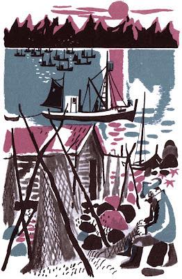 1960s Johan Berle port illustration