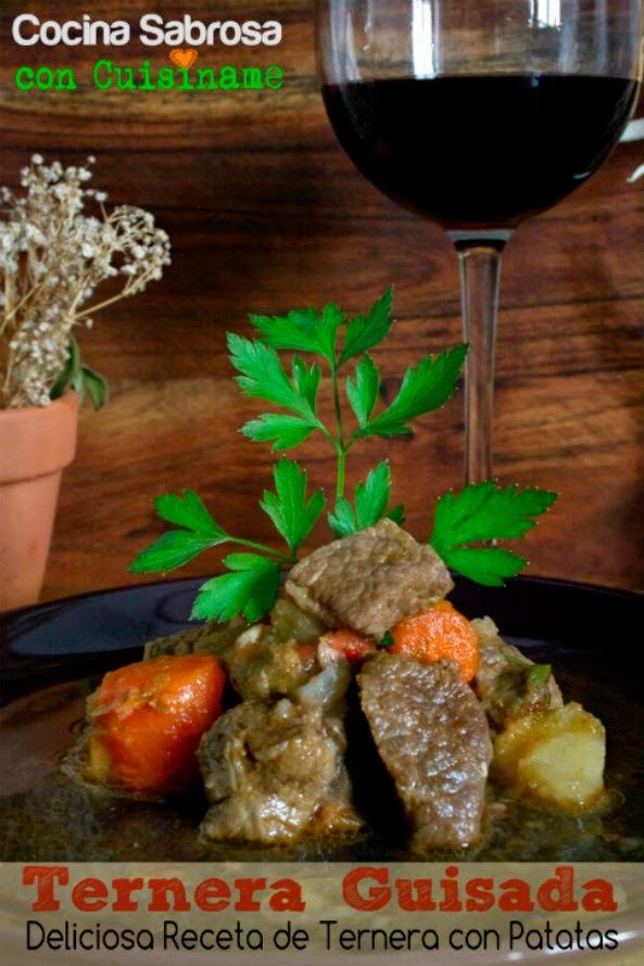 carne, carne guisada, ternera guisada, recetas de carne, ternera, carne con patatas, carne con verduras, recetas de cocina, recetas caseras,