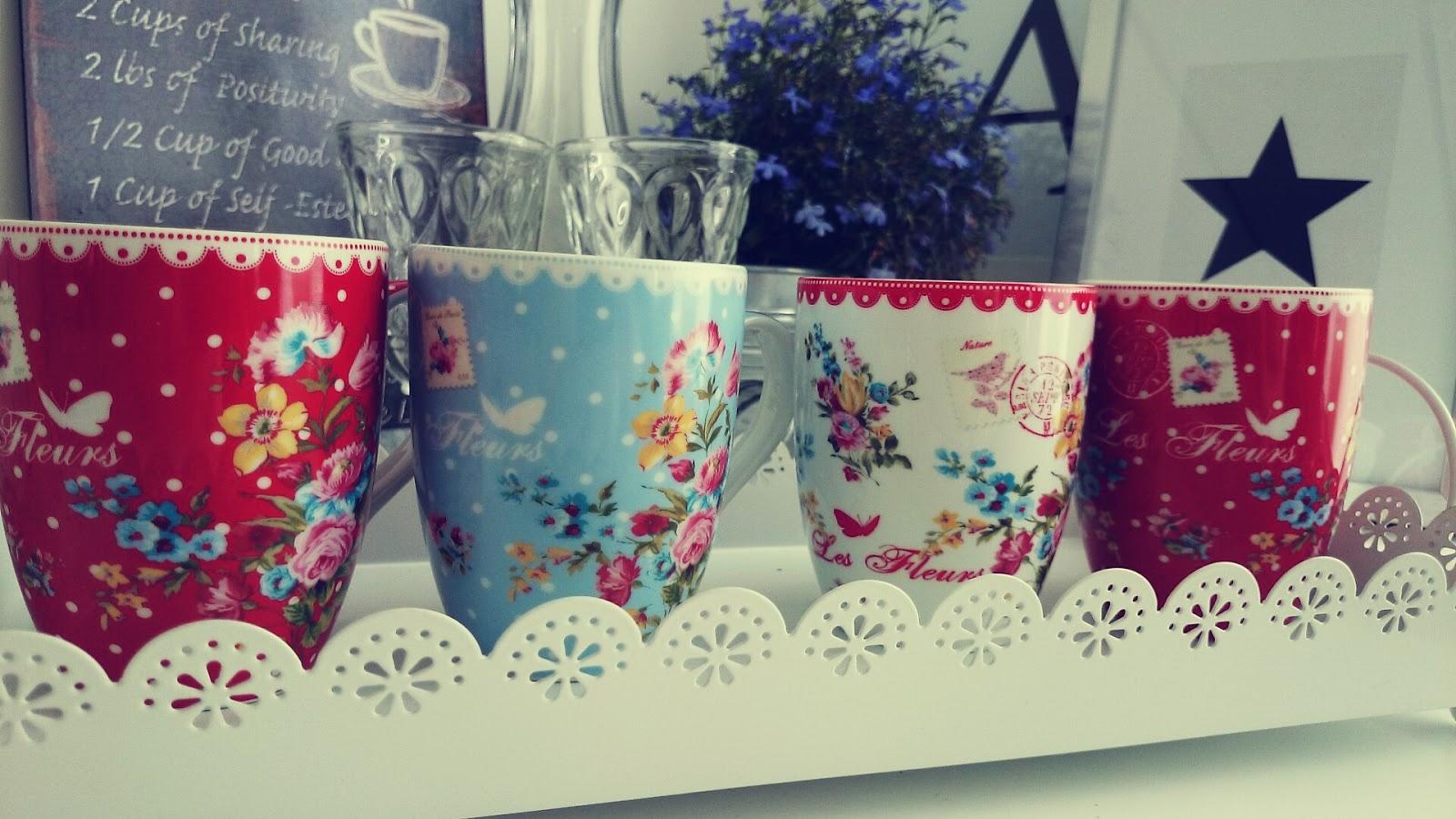 Porcelanowe Kubki Le Fleurs z kolekcji Jardin Secret