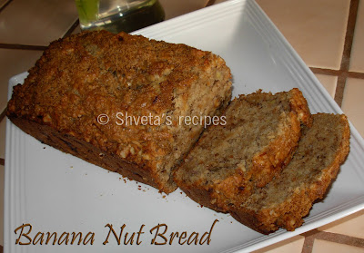 Shveta's Recipes: Eggless banana nut bread