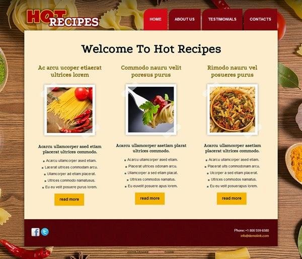 Hot Recipes - Free Joomla! Template